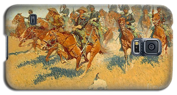 Galaxy S5 Case featuring the photograph On The Southern Plains Frederic Remington by John Stephens