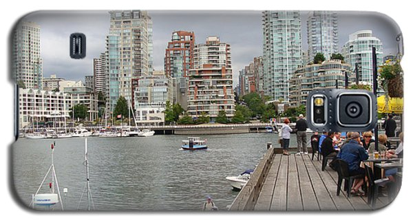 Galaxy S5 Case featuring the painting On The Water At False Creek Vancouver by Rod Jellison