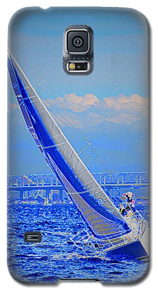 Galaxy S5 Case featuring the photograph On The Water by Barbara Dudley
