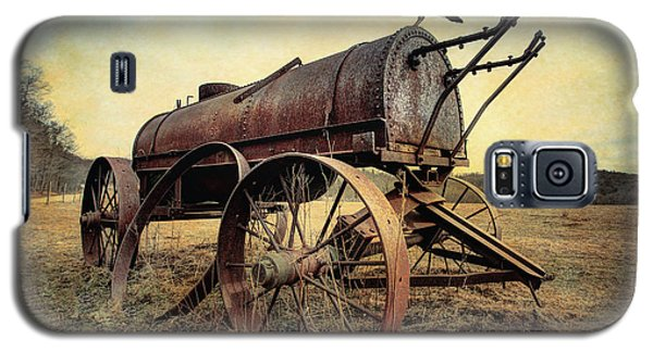 Galaxy S5 Case featuring the photograph On The Water Wagon - Agricultural Relic by Gary Heller