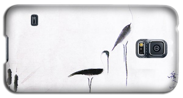Egret Galaxy S5 Case - On Typha Pond by Oiyee At Oystudio