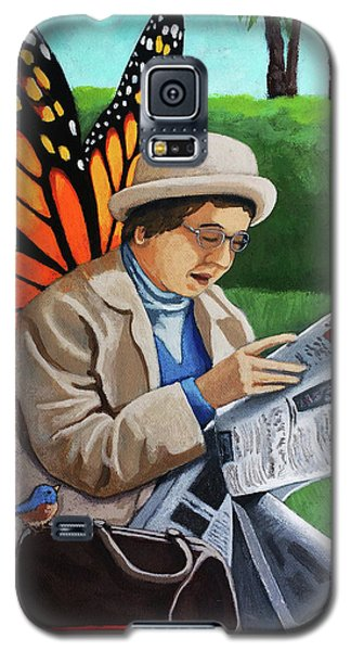 On Vacation -butterfly Angel Painting Galaxy S5 Case