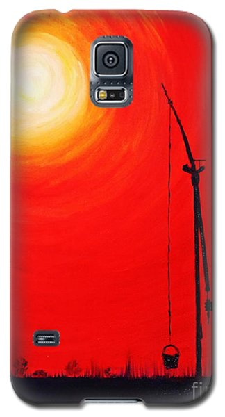 Galaxy S5 Case featuring the painting Once Upon A Time...  by AmaS Art