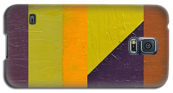 Galaxy S5 Case featuring the painting One By Three by Michelle Calkins