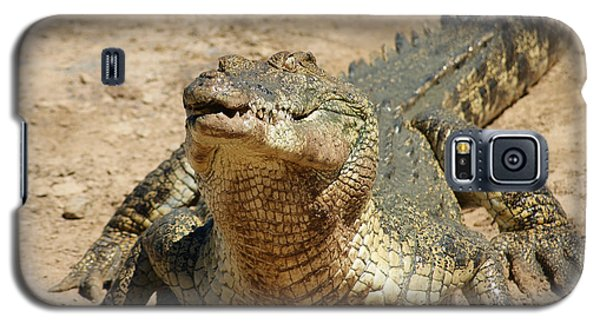 Galaxy S5 Case featuring the photograph One Crazy Saltwater Crocodile by Gary Crockett