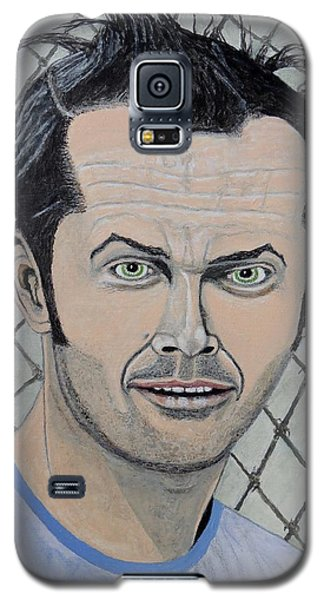 Galaxy S5 Case featuring the painting One Flew Over The Cuckoo's Nest. by Ken Zabel