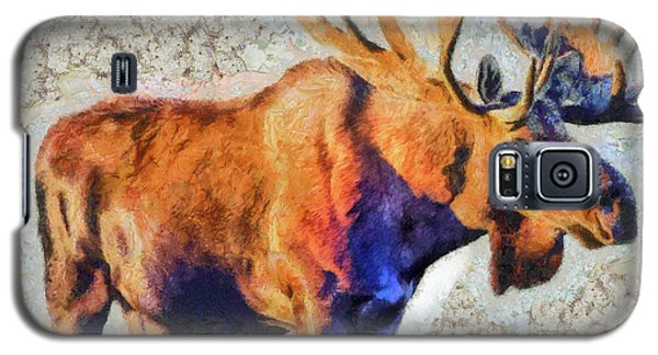 One Handsome Moose Galaxy S5 Case by Elaine Ossipov