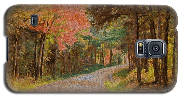Galaxy S5 Case featuring the digital art One More Country Road by John Selmer Sr
