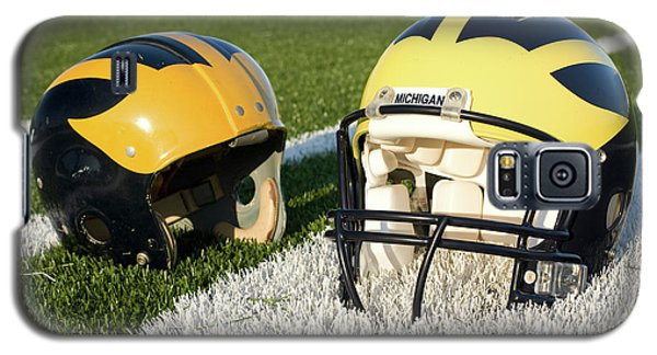 One Old, One New Wolverine Helmets On The Field Galaxy S5 Case