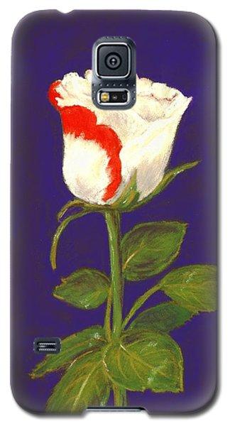 Galaxy S5 Case featuring the pastel One Rose by Anastasiya Malakhova