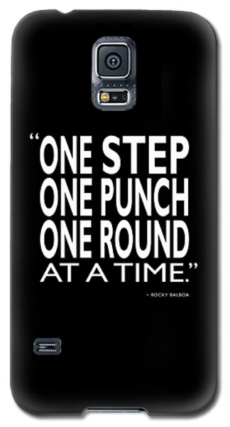 Rocky Galaxy S5 Case - One Step One Punch One Round by Mark Rogan