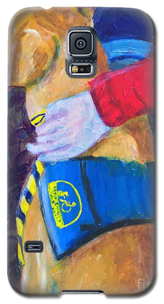 Galaxy S5 Case featuring the painting One Team Two Heroes 3 by Donald J Ryker III