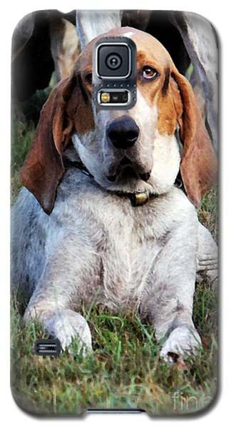 Galaxy S5 Case featuring the photograph One Tired Hound by Polly Peacock
