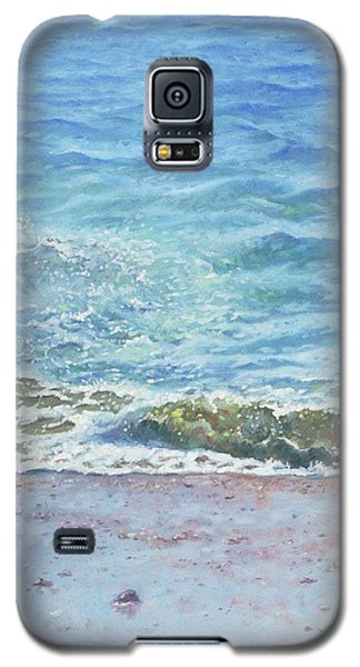 Galaxy S5 Case featuring the painting One Wave by Martin Davey