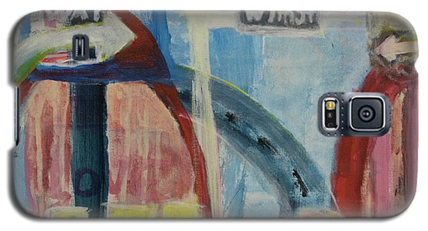 Galaxy S5 Case featuring the painting One Way To 7th Street by Susan Stone