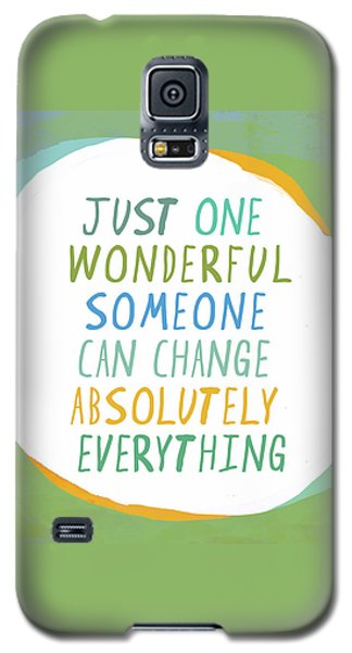 Galaxy S5 Case featuring the painting One Wonderful Someone by Lisa Weedn