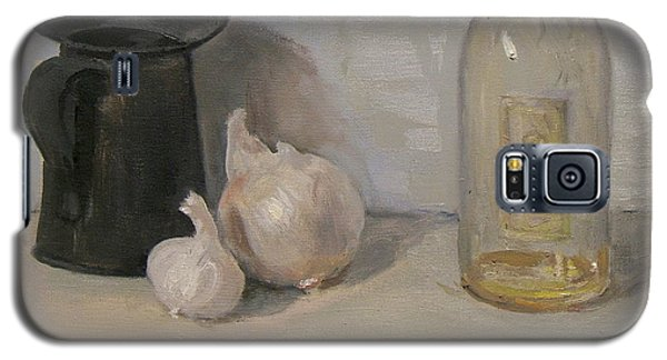 Onion And Garlic,tin Can, And Painting Medium Bottle Galaxy S5 Case