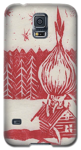 Galaxy S5 Case featuring the mixed media Onion Dome by Alla Parsons