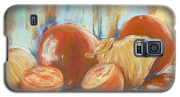 Galaxy S5 Case featuring the painting Onions And Tomatoes by AnnaJo Vahle