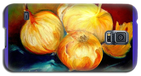 Galaxy S5 Case featuring the painting Onions by Yolanda Rodriguez