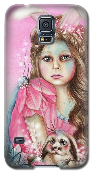 Galaxy S5 Case featuring the mixed media Only Friend In The World - Bunny by Sheena Pike