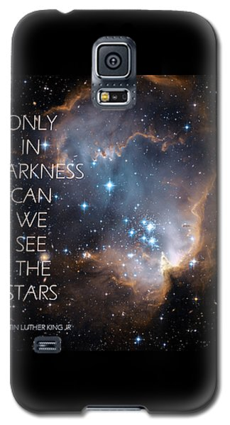 Galaxy S5 Case featuring the digital art Only In Darkness by Lora Serra