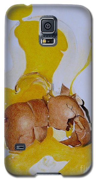Oops Broken Egg Galaxy S5 Case by Sheron Petrie