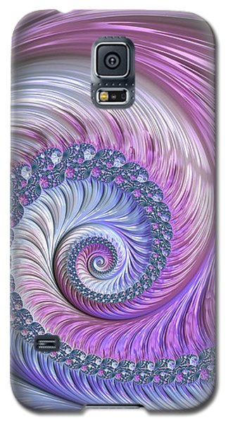 Galaxy S5 Case featuring the digital art Opal Nautilus by Susan Maxwell Schmidt