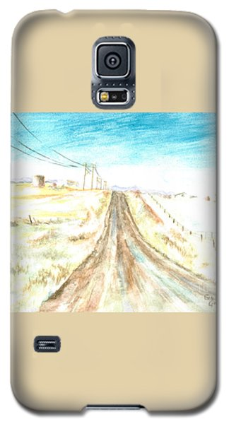 Galaxy S5 Case featuring the painting Country Road by Andrew Gillette