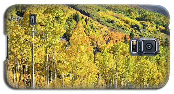 Galaxy S5 Case featuring the photograph Ophir Road Hillside by Ray Mathis