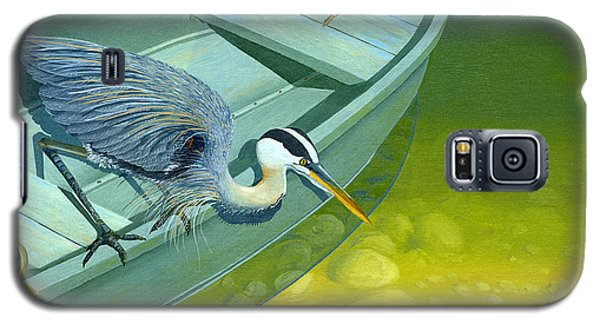 Opportunity-the Great Blue Heron Galaxy S5 Case by Gary Giacomelli