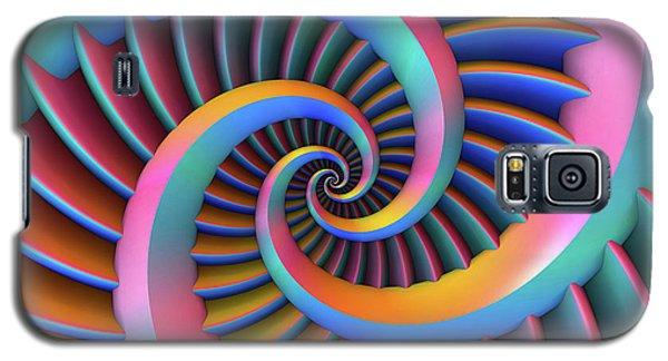 Galaxy S5 Case featuring the digital art Opposing Spirals by Lyle Hatch