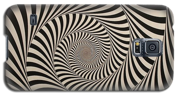 Optical Illusion Beige Swirl Galaxy S5 Case by Sumit Mehndiratta