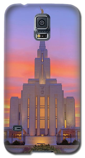 Galaxy S5 Case featuring the photograph Oquirrh Mountain Temple IIi by Chad Dutson
