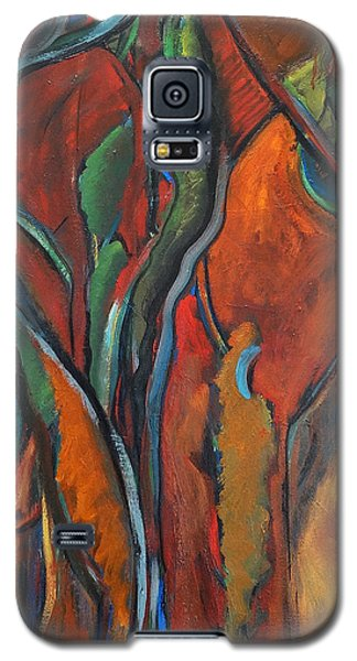 Orange Abstract Galaxy S5 Case