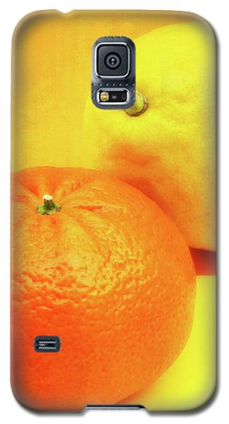 Orange And Lemon Galaxy S5 Case