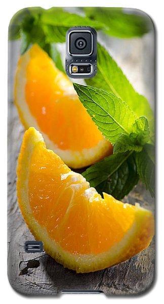 Orange And Mint Galaxy S5 Case
