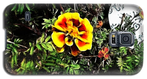 Galaxy S5 Case featuring the photograph Orange And Yellow Flower by Joan  Minchak