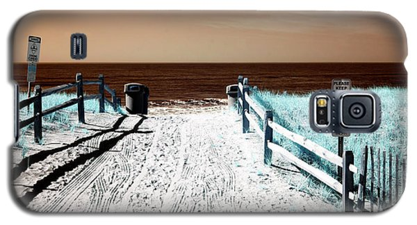 Galaxy S5 Case featuring the photograph Orange Beach Entry by John Rizzuto