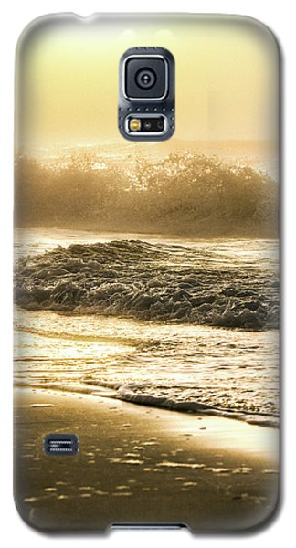 Galaxy S5 Case featuring the photograph Orange Beach Sunrise With Wave by John McGraw