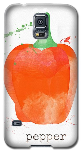 Truck Galaxy S5 Case - Orange Bell Pepper  by Linda Woods