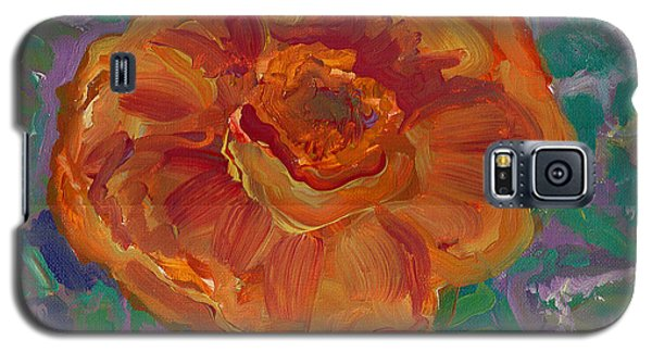 Galaxy S5 Case featuring the painting Orange Blossom by John Keaton