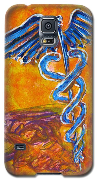 Orange Blue Purple Medical Caduceus Thats Atmospheric And Rising With Mystery Galaxy S5 Case