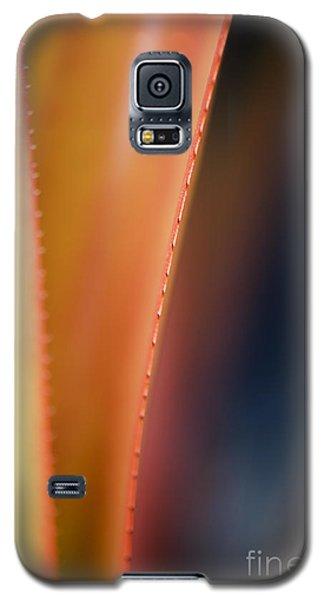 Orange Bromeliad Macro Galaxy S5 Case