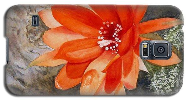 Orange Cactus Flower II Galaxy S5 Case