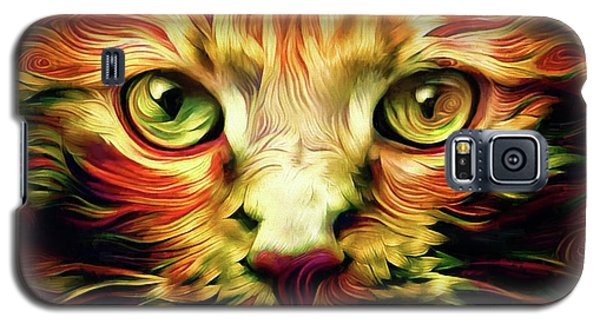 Orange Cat Art - Feed Me Galaxy S5 Case