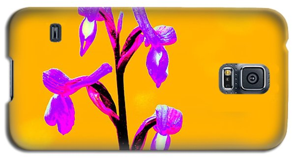 Orange Champagne Orchid Galaxy S5 Case
