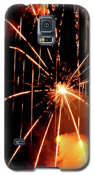 Galaxy S5 Case featuring the photograph Orange Chetola Fireworks by Meta Gatschenberger