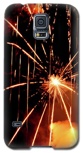 Orange Chetola Fireworks Galaxy S5 Case