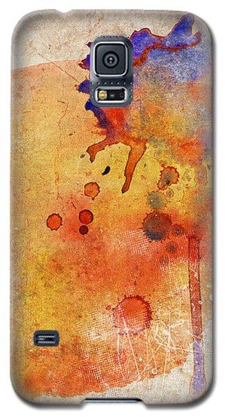 Orange Color Splash Galaxy S5 Case